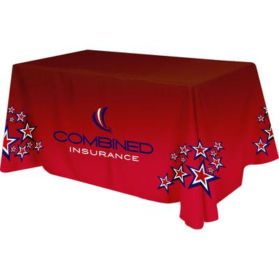 Polyester Digital Direct Print Table Cover 4 Sided, 6 Foot   Beacon  Promotions