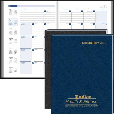 Ruled Monthly Format Stitched To Cover Desk Planner 2019 Beacon