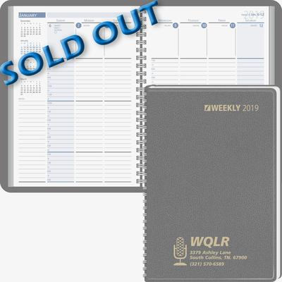 Column Style Weekly Wired Desk Planner 2019 Beacon Promotions